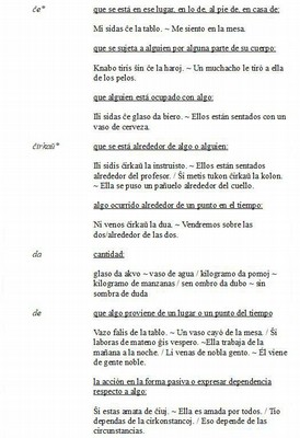 Español - Las Preposiciones